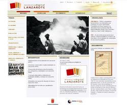 Portada de la Web Memoria Digital de Lanzarote