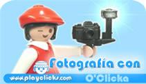 icono del curso de fotografía de Playclicks, muestra una click fotógrafa con una cámara